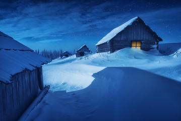 Ukrainian winter night