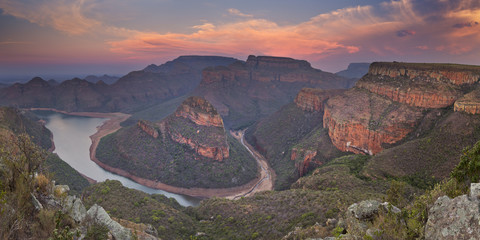 Blyde River Canyon in South Africa at sunset