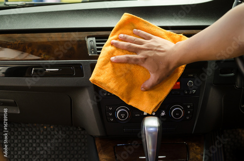 hand with microfiber cloth cleaning interior car stock photo and royalty free images on. Black Bedroom Furniture Sets. Home Design Ideas
