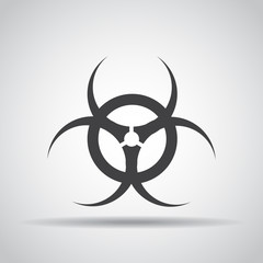 Toxic icon with shadow on a gray background. Vector illustration