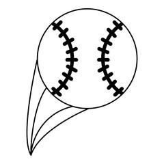 baseball ball icon image vector illustration design