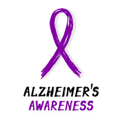 Symbolic ribbon - violet - Alzheimers awareness
