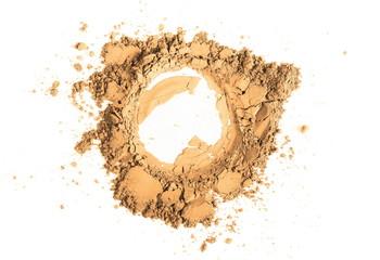 Cream face powder isolated on white background