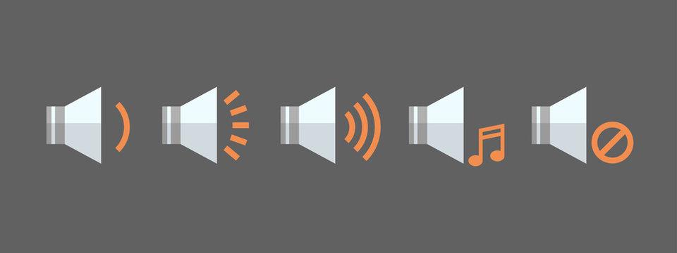 Music Player Volume Icon set