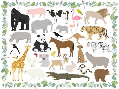 動物のイラストセット