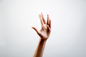 Hand macht Zeichen Symbol Piktogramm freigestellt