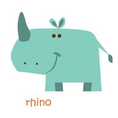 animals set - rhino