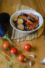 Homemade vegetable stew lecho