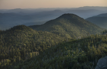 Sunset on Ampersand Mountain in the Adirondack Park of New York State