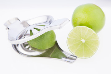 Lemon squeezer on white background