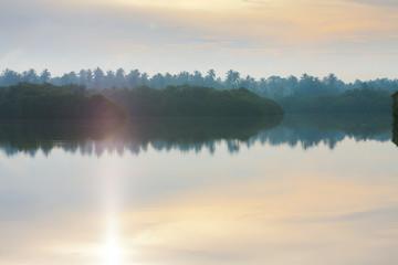 Sunrise at Lake Marawila, Sri Lanka