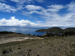 Lac Titicaca depuis l'île du soleil