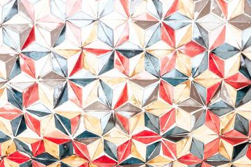 Texture Color triangle wall artwork vintage older handmake style