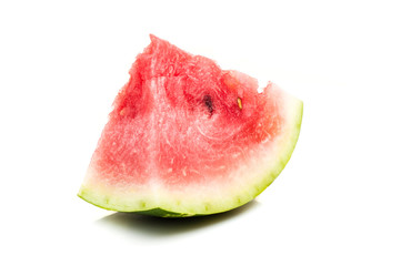 watermelon single slice isolated at white background