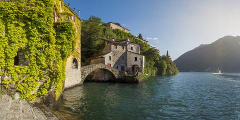Roman stone bridge, Nesso, Lake Como, Como, Italy