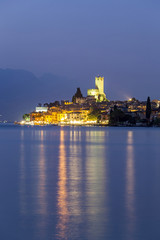 Italy. Veneto. Verona district. Lake Garda. Malcesine. Scaligero castle.