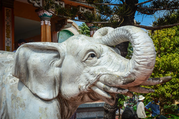 Elephant statue at the Chinese temple