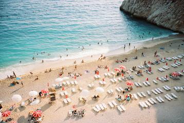 Overhead image of Kaputas beach, Turkey