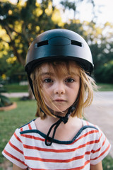 Girl with a helment