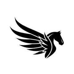 pegasus, logo, design, vector