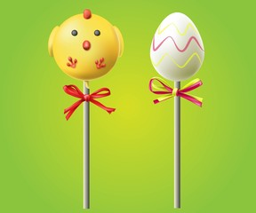 Easter eggs end chiken