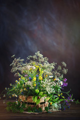 Still life with wild flowers.