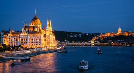 Parliament Building in Budapest, night view