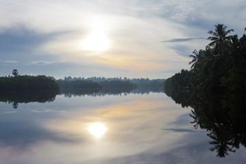 Sri Lankan lake at Marawila