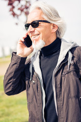 Senior Man On The Phone