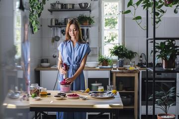 Woman Working in Her Kitchen
