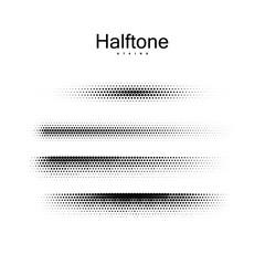 Halfton brush strokes collection.