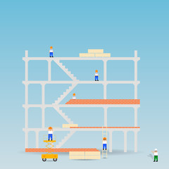Construction site.Vector illustration
