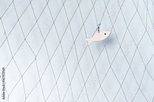 filet pêche décoration déco chambre idée intérieur mer océan ...