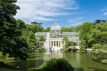 Palacio de cristal (crystal palace) in Buen Retiro Park - Madrid