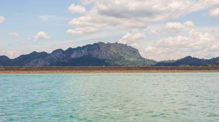 The beautiful lake at Cheow Lan Dam Ratchaprapha Dam, Khao Sok National Park, Thailand