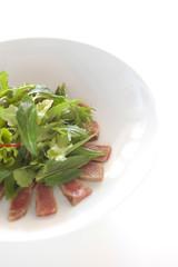 Homemade vegetarian salad, balanced meal
