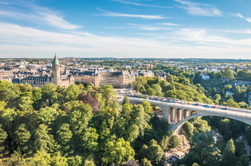 Nice view of Luxembourg City