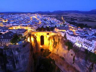 Ronda desde el aire. Pueblo blanco de Andalucia ,España