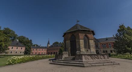 Sychrov castle in north Bohemia in sunny day