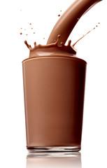 chocolate milk drink splash glass