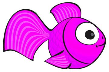 Golden fish isolated. Aquarium fish silhouette illustration. Colorful cartoon flat aquarium fish icon for your design.