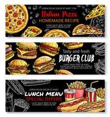 fast food restaurant menu board template design buy this stock