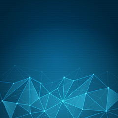 Abstract futuristic shape. Computer generated on blue background-3