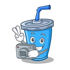 Photography soda drink character cartoon
