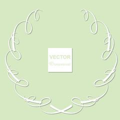 アール・ヌーヴォー調の円形のシンプルな飾り罫|Art Nouveau|ベクターデータ