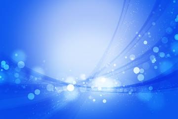 ブルーのボケ 光と曲線 背景