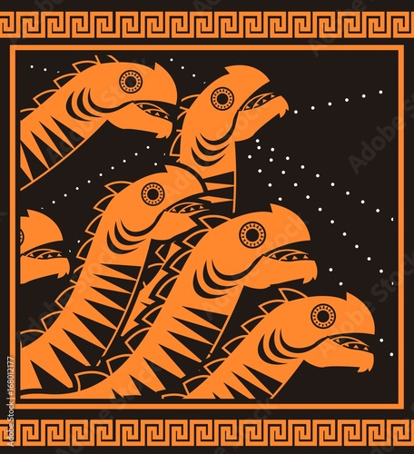 Hydra Greek Mythology Monster Stock Image And Royalty Free Vector