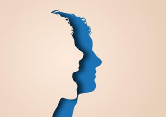 Profil - visage - expression - personnage - silhouette - portrait
