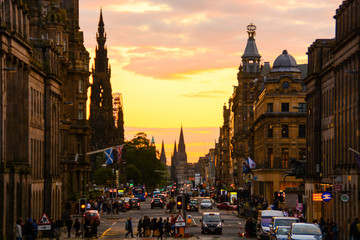 Sunset at Royal Mile, Edinburgh