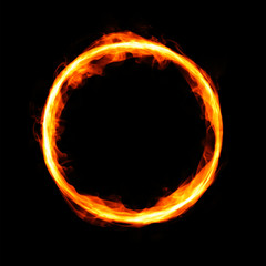 Fiery circle with free space in center